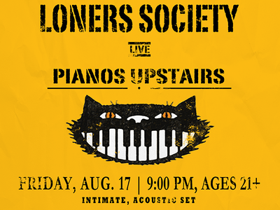 Loners Society New York Tour Card design postcard poster tour loners society