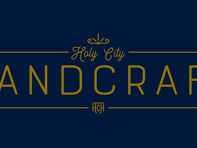 Holy City Handcraft Logo typography holy city handcraft design logo