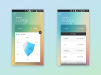 mobile ui design color test.