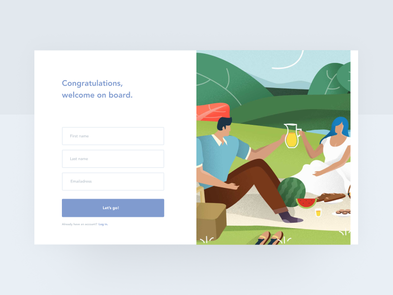 Sign Up Interface — Playground 001 user experience user interface sign up screen sign up login signup onboarding digital ux ui