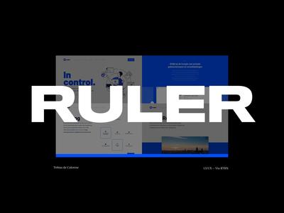 Ruler type typography whitespace grid clean minimal user experience design user interface design saas website saas landing page