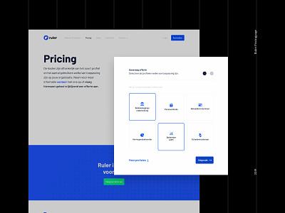 Ruler — Pricing branding landing page saas landing page saas design saas website grid clean minimal layout visual hierarchy typography type brand visual user interface user experience ux ui