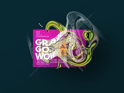 Grab. Go. Wow. typography type vector illustration graphic art design