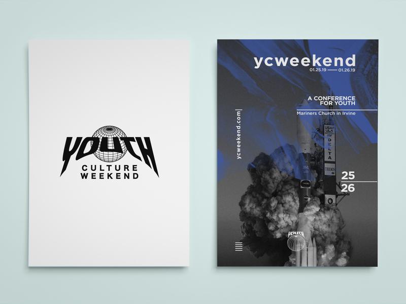YCWeekend Flyer ad flyer promo flyer branding graphic art vector print layoutdesign layout illustration typography design