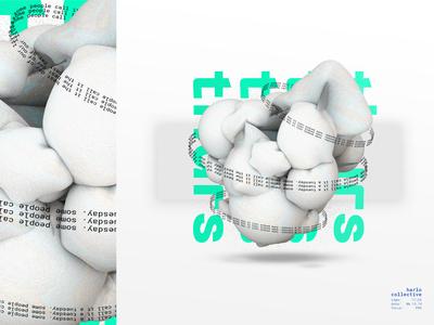 Tuesday/Thursday 3d art layout illustration typography graphic art design