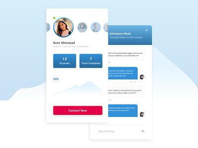 Student Bio education ui online mobile gpa courses message student