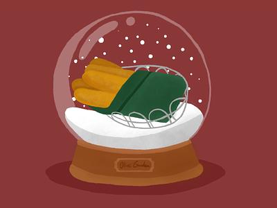 Snowglobe procreate giftcard winter christmas food snow globe