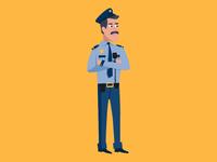Cop Illustration