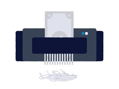 Shredding dollar bills. shredder money