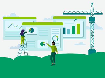 Putting Data Together green dashboard data business analytics