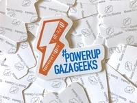 Gaza Sky Geeks sticker