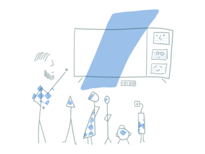 Daily all-hands meeting illustration