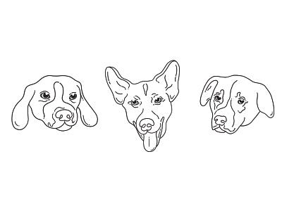 dogggies style art procreate doodle dog furry dogs animal line art illustration