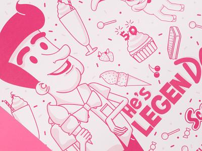 Scoops Branding ice cream shop ice cream candy shop 60s man