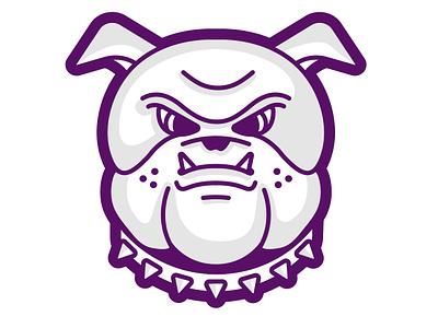 Bulldog Mascot animal dog mean purple mascot bulldog