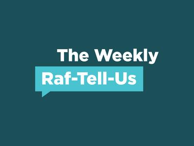 Raf-Tell-Us Branding channel communication internal branding internal project internal idenity initiative logo branding