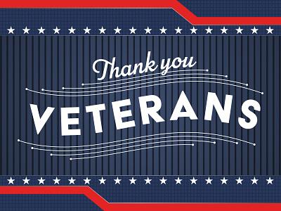 Veterans Day holiday military american america thanks typogaphy veterans day