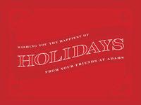 Adams Holiday Card