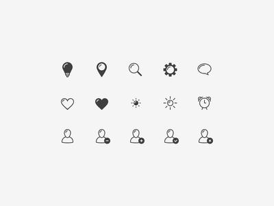 Basic shapes icon set