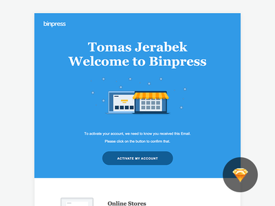 Binpress Welcome Email commerce download free sketch mail email welcome binpress