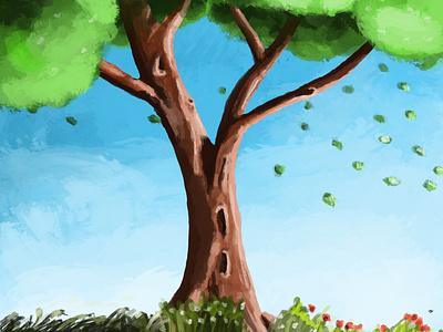 Tree illustraion drawing tree procreate