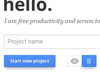 Scrummaster start project window