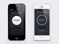 App concept (Skeuomorphic vs Flat)