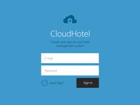 CloudHotel login page