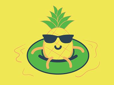 Pineapple yellow tube float pineapple