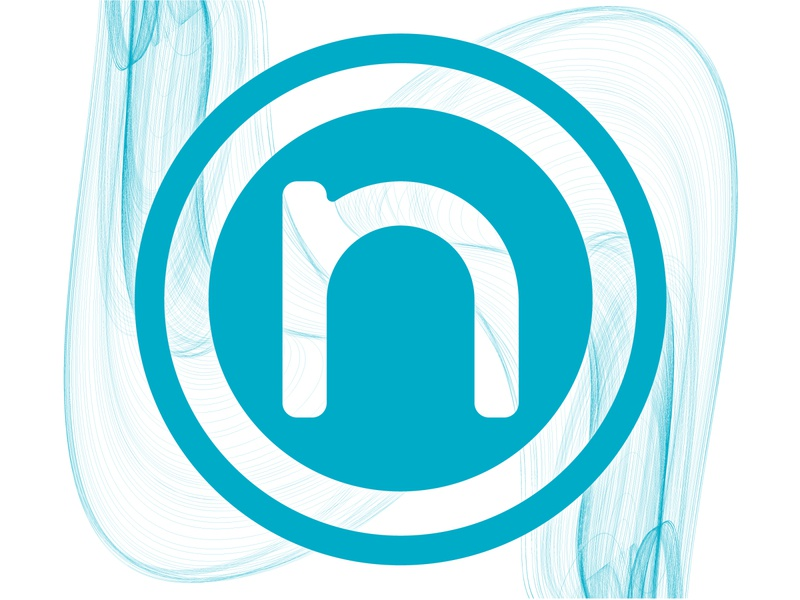 New Logo letter type ~ blue waves illustrator graphic design minimal logo design branding new logo