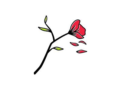 Petals 🥀 minimal petals flower offset illustrator