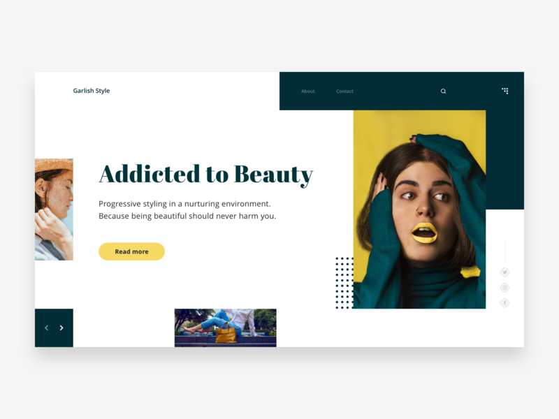 Garlish Style home page style make up glamour uiux ui banner ui designer pakistan web design colors website ui design user interface design hero template theme landing page fashion beauty