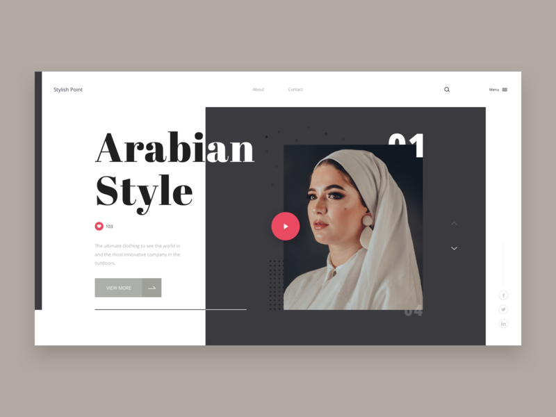 Stylish Point clothing trend style glamour fashion simple clean design pakistan slider design ui ux designer colors typography minimal design hero design banner design template design theme design web design website design landing page design home page design
