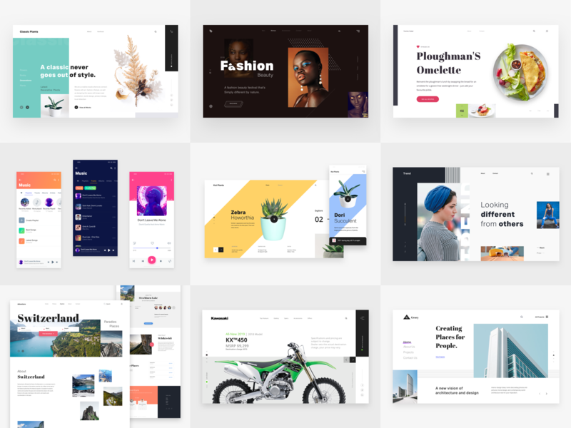 Best of 2018 banner design home page portfolio minimal design uiux slider banner designer hero design design ui designer hero landing page colors pakistan website theme template web design user interface design