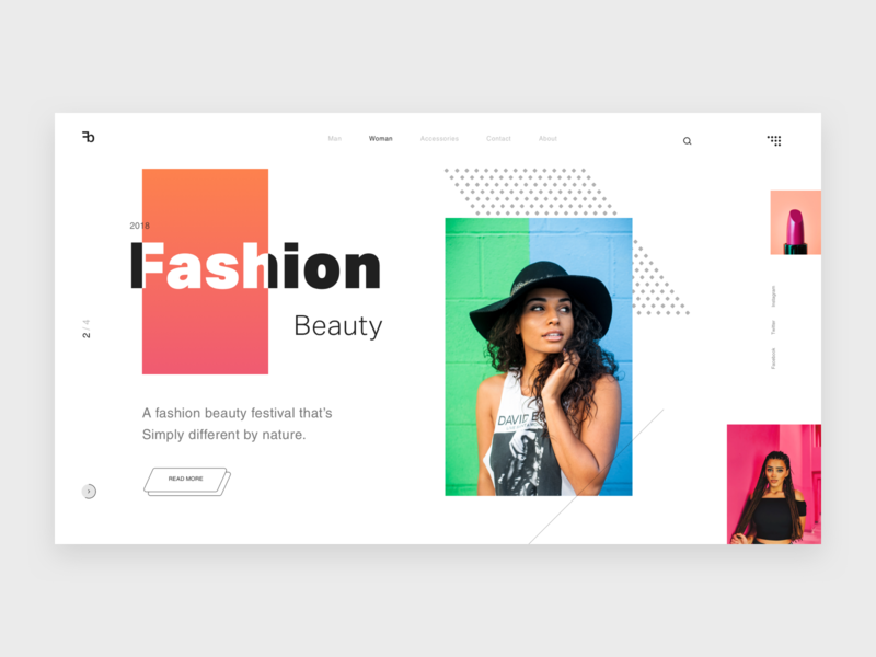 Fashion Beauty V2 home page uiux colors ui designer ui inspiration simple clean design minimal design models makeup glamour fashion pakistan banner design landing page hero website theme template web design