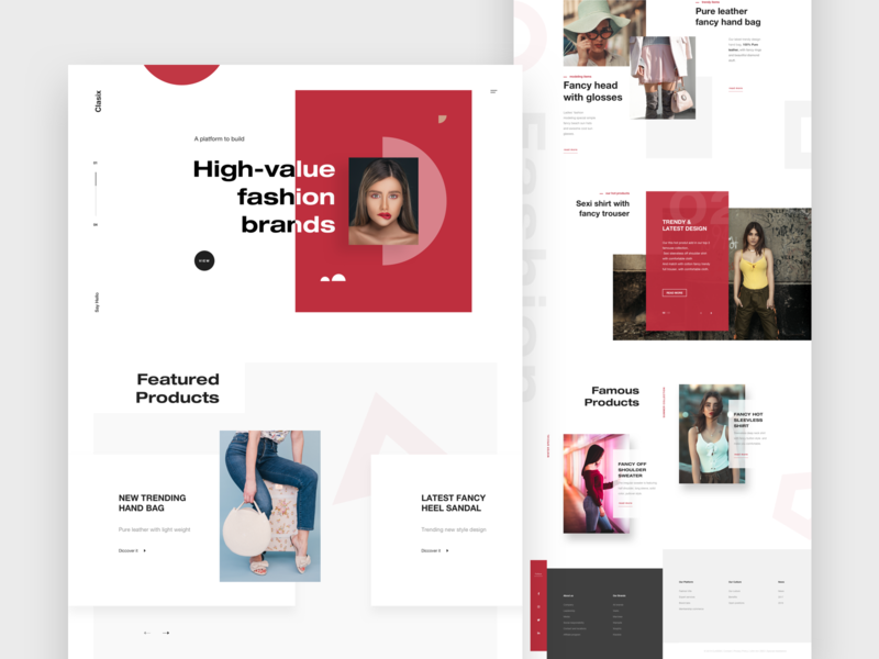 Classix Landing Page ui  ux shopping clean design minimal design footer design template pakistan theme ecommerce designer design color hero design banner design web  design website home page landing page products page fashion