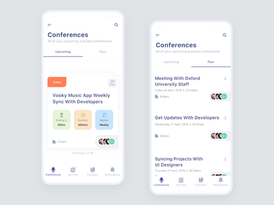 Conference App designers 2019 trend daily meeting app uidesign clean app design minimal design design pakistan customer meeting app team meeting app app design mobile apps mobile application mobile uiux mobile ui design mob app design mobile app design mobile app meeting app conference app