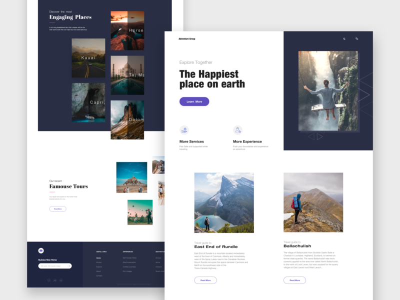 Adventure Group tourist branding mobile print product design typography trips adventure tour travel traveling minimal design pakistan ui design theme template home page landing page website web design