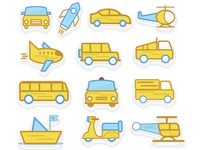Transport Icons Design