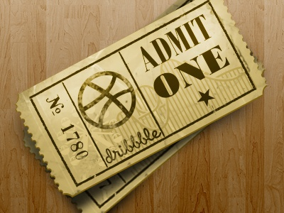 Dribbble tickets