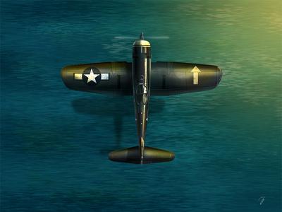 F4U Corsair  dogfight war game assets game fighter wwii plane f4u corsair