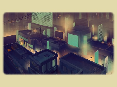 Rooftop 02 cyberpunk visionesia studio dickyjiang game concept art