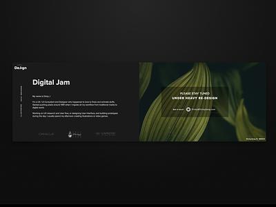 New Personal Website Re-design - kind of :P webflow vector website animation css animated dark website concept design website