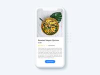 Food details app screen