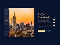 Travel site homepage
