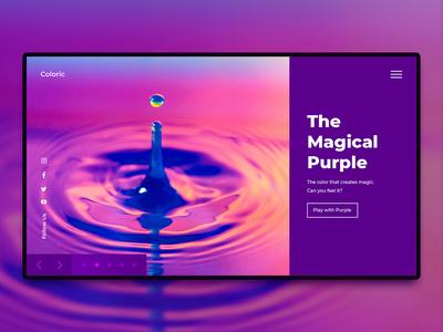 The Magical Purple gradient violet purple design inspiration prototype concept website design landing page site website web ui ux design ux design ui design user experience interface ui interface user interface ux ui