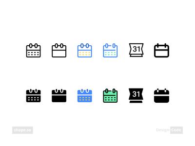 Shape.so- Calendar Icon shape.so calendar icon calendar shape vector illustrator illustration icon design iconography icon set icon