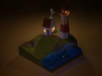 Low Poly Lighthouse v2
