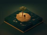Low Poly (Pirates)-Island