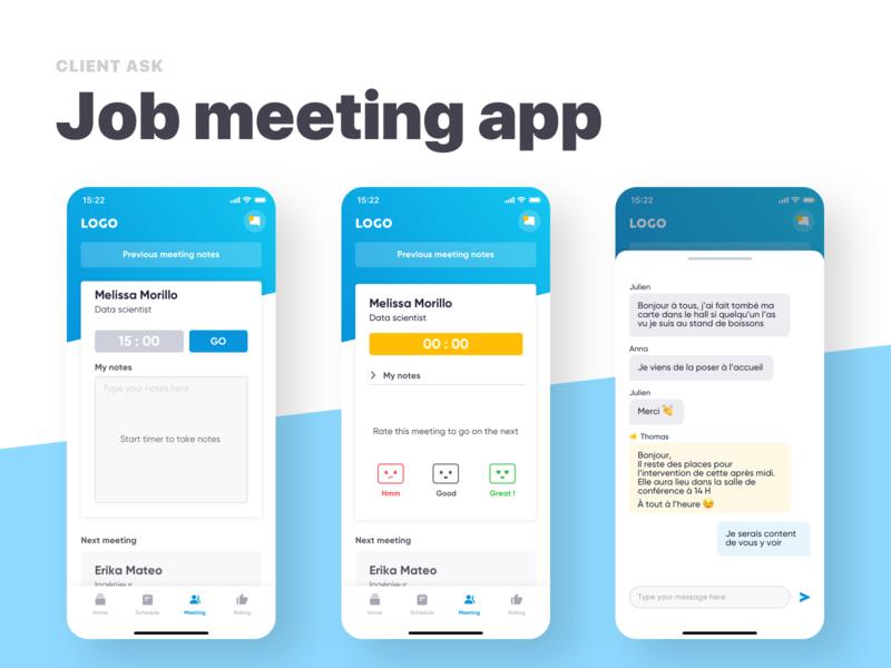 Job Meeting App By Samuel On Dribbble